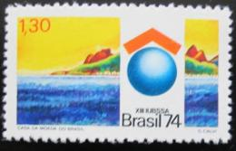 Poštovní známka Brazílie 1974 Kongres unie budov Mi# 1448