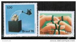 Poštovní známky Brazílie 1976 Moderní umìní Mi# 1532-33