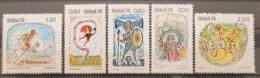 Poštovní známky Brazílie 1974 Pohádky Mi# 1420-24 Kat 32€