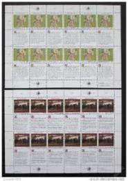Poštovní známky OSN Vídeò 1990 Lidská práva Mi# 108-09