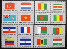Poštovní známky OSN New York 1980 Vlajky ètyøbloky Mi# 348-63