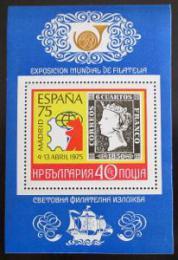 Poštovní známka Bulharsko 1975 Výstava ESPANA Mi# Bl 57