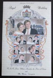 Poštovní známky Guyana 2002 Nizozemská královská svatba Mi# 7342-47