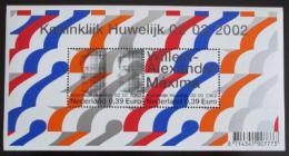 Poštovní známky Nizozemí 2002 Královská svatba Mi# Block 74