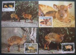 Maxikarty Pobøeží Slonoviny 1985 Antilopa, WWF 031 Mi# 881-84