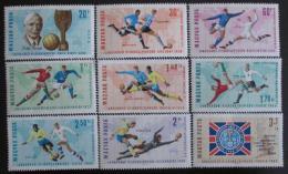 Poštovní známky Maïarsko 1966 MS ve fotbale Mi# 2242-50