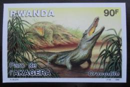Poštovní známka Rwanda 1986 Krokodýl, neperf. Mi# 1351 B Kat 11.30€
