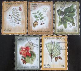 Poštovní známky Kuba 1975 Zalesòování Mi# 2065-69