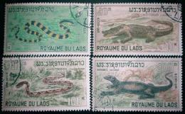 Poštovní známky Laos 1967 Obojživelníci a plazi Mi# 218-21