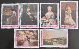 Poštovní známky Kuba 1976 Umìní Mi# 2103-08