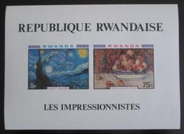 Poštovní známky Rwanda 1980 Umìní, neperf. Mi# Bl 91 B
