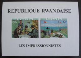 Poštovní známky Rwanda 1980 Umìní, neperf. Mi# Block 92 B