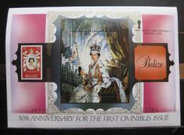 Poštovní známka Belize 1985 Královna Alžbìta II Mi# Block 75