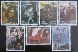 Poštovní známky Kambodža 1985 Umìní Mi# 680-86