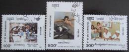 Poštovní známky Kambodža 1991 Národní festival Mi# 1193-95