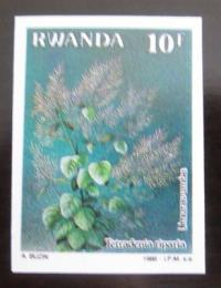Poštovní známka Rwanda 1989 Léèivé rostliny, vzácná neperf. Mi# 1408 B