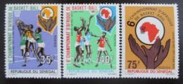 Poštovní známky Senegal 1971 Basketbal Mi# 476-78