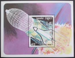 Poštovní známka Kambodža 1990 Prùzkum vesmíru Mi# Bl 179