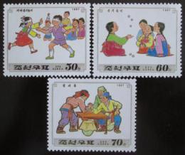 Poštovní známky KLDR 1997 Dìtské hry Mi# 3952-54