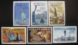 Poštovní známky Antigua 1985 Socha svobody Mi# 834-39