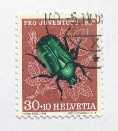 Poštovní známka Švýcarsko 1957 Cetonia aurata Mi# 651 Kat 5.50€