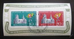 Poštovní známka Švýcarsko 1955 Výstavy Mi# Block 15 Kat 100€