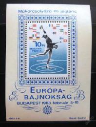 Poštovní známka Maïarsko 1963 ME v krasobruslení Mi# Block 37