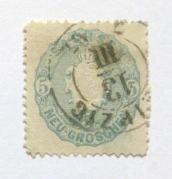 Poštovní známka Sasko 1863 Znak Mi# 19 Kat 60€