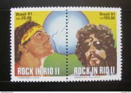 Poštovní známky Brazílie 1991 Festival Rock in Rio Mi# 2396-97