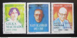 Poštovní známky Brazílie 1993 Básníci Mi# 2553-55