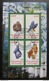 Poštovní známky Kongo 2011 Sovy a netopýøi