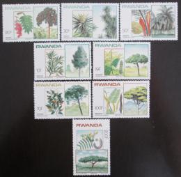 Poštovní známky Rwanda 1984 Místní stromy Mi# 1251-58