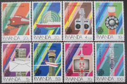 Poštovní známky Rwanda 1984 Rok komunikace Mi# 1259-66