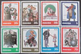 Poštovní známky Rwanda 1981 Umìní, Rockwell Mi# 1111-18