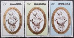 Poštovní známky Rwanda 1985 Revoluèní hnutí Mi# 1305-07
