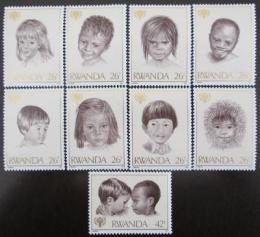 Poštovní známky Rwanda 1979 Mezinárodní rok dìtí Mi# 992-1000