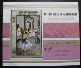 Poštovní známka Aden Kathiri 1967 Umìní Mi# Block 19