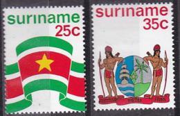 Poštovní známky Surinam 1976 Znak a vlajka Mi# 715-16