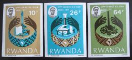 Poštovní známky Rwanda 1977 Konference, neperf. Mi# 860-62 Kat 16€