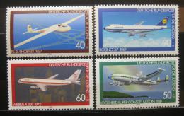 Poštovní známky Nìmecko 1980 Letadla Mi# 1040-43