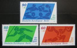Poštovní známky Západní Berlín 1980 Sporty Mi# 621-23