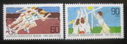 Poštovní známky Západní Berlín 1982 Sporty Mi# 664-65