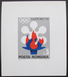 Poštovní známka Rumunsko 1971 ZOH Sapporo Mi# Block 91