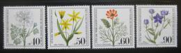 Poštovní známky Západní Berlín 1980 Kvìtiny Mi# 629-32