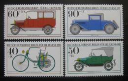Poštovní známky Západní Berlín 1982 Historická auta Mi# 660-63