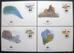 FDC Chile 1984 Ohrožené druhy, WWF 020 Mi# 1066-69