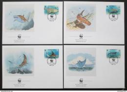FDC Kiribati 1991 Ryby, WWF 105 Mi# 566-69