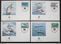 FDC Montserrat 1990 Delfíni, WWF 103 Mi# 786-89