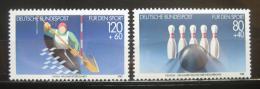 Poštovní známky Nìmecko 1985 Sporty Mi# 1238-39