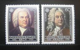 Poštovní známky Nìmecko 1985 Evropa CEPT, skladatelé Mi# 1248-49 Kat 4.50€